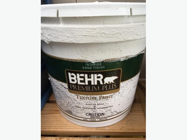Approximately 1 Gallon Of Behr Textured Ceiling Paint