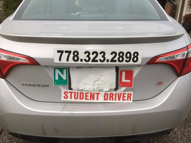 DRIVING TRAINING -CLASS 5&7 I.C.B.C. ROAD TEST-$28/hr pkg up