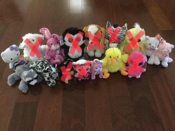 Stuffed Toys including Ty, Ganz, Webkinz