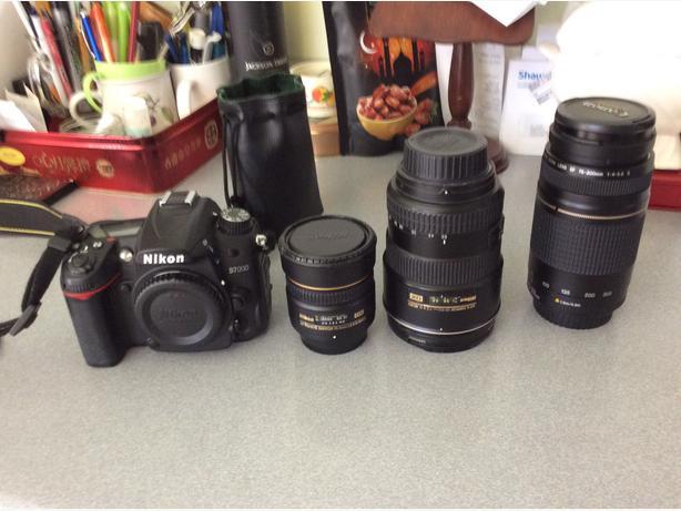 Nikon Nikkor 17-55mm lens, AF 10.5 mm , Canon lens 75-300mm