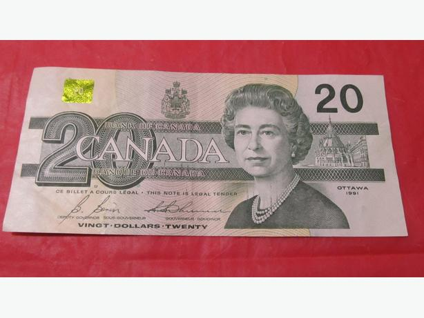 OLD  CANADIAN PAPER $20 BILL