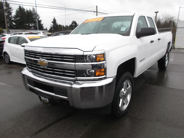 2015 CHEV 2500 DOUBLE CAB LONG BOX 4X4 FOR SALE