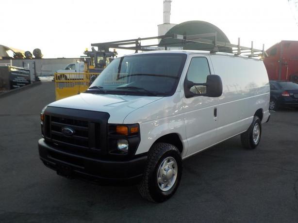 2012 Ford Econoline E-350 Super Duty Cargo Van with Bulkhead Divider, Rear Shelv