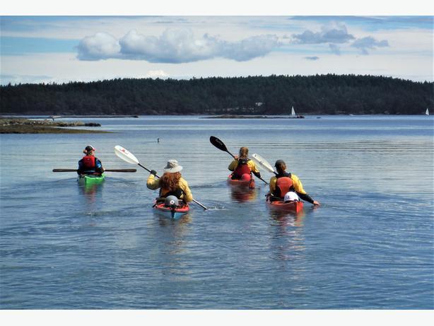 All women kayak adventures to Barkley sound or the Gulf Islands