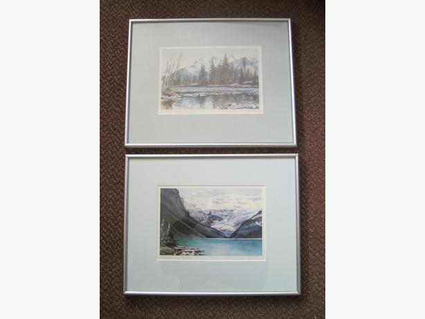 Alberta Water Colour Prints – Pair