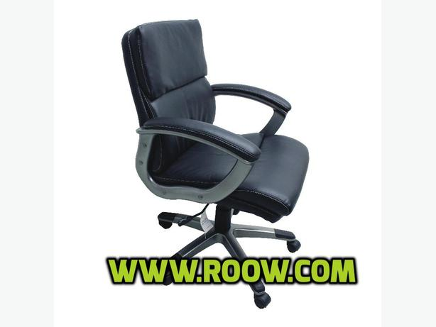 TygerClaw Leather Manager Chair - Black