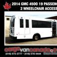 BUS ~ 2014 GMC SAVANA 4500 SHUTTLE 19 PASS W/ 2WHEEL CHAIR ACCESS