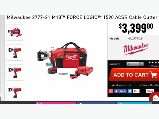 milwaukee 1590 acsr cutter