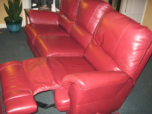 Leather elran couch