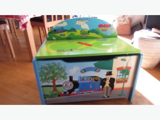 Thomas the train toy wooden storage chest box