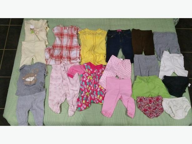 Box of girls 3-6 month clothes