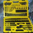 Stanley 183pc. Professional Grade Black Chrome Mechanic Tool Set