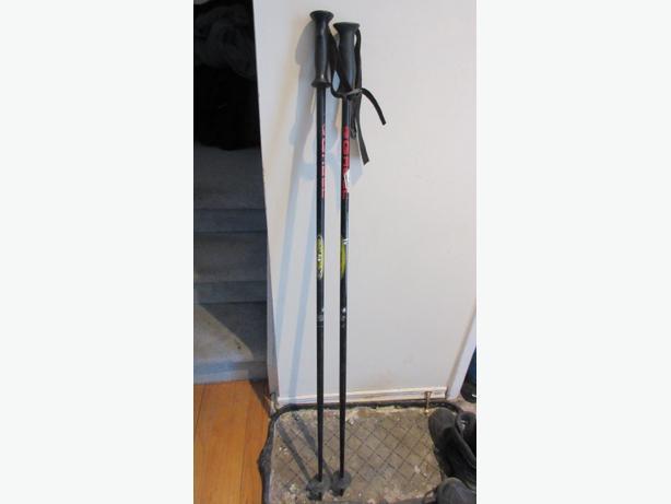 Black Gabel CVX downhill alloy ski poles, Size 125cm