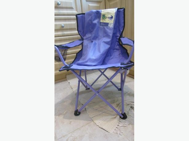 Child chairs  - one folding, one plastic