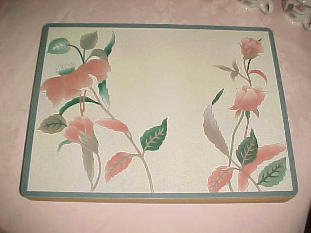 8 MIKASA SILK FLOWERS PLACEMATS