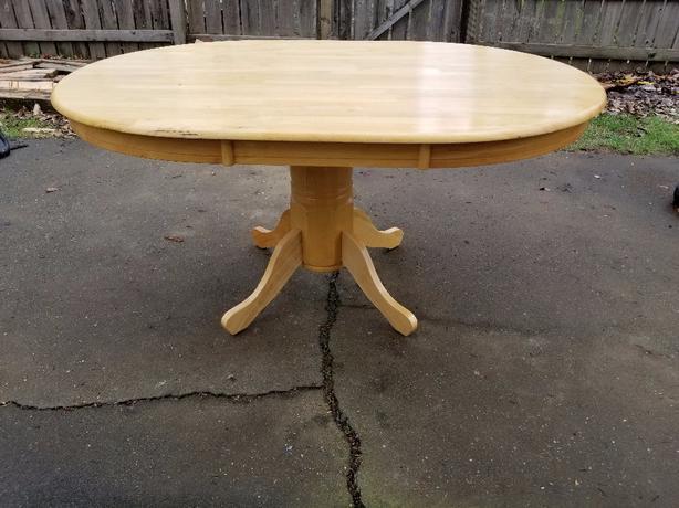 Solid Oak Pedestal Dining Table