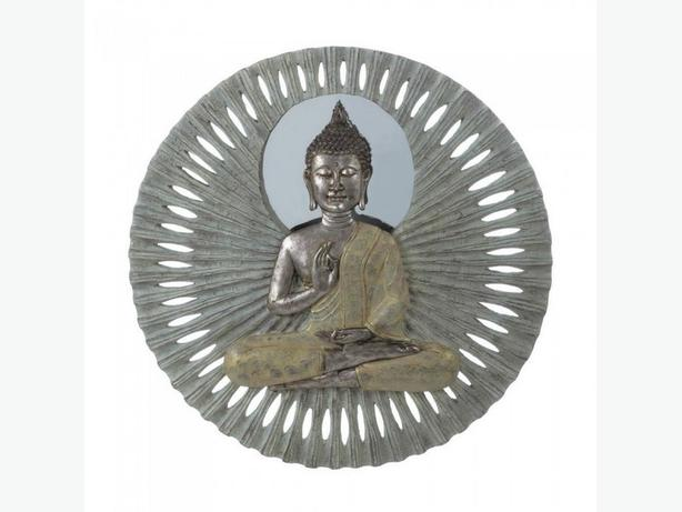 23-Inch Zen Buddha Round Wall Plaque Brand New