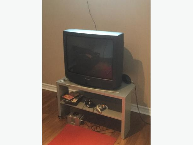 Panasonic tv and IKEA corner stand