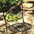 Fleur-De-Lis Black Cast Iron Folding Patio Chair Brand New