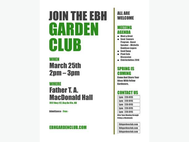 EBH Garden Club Meeting - Seed Swap