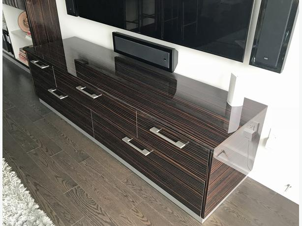 Custom Made Media Unit in Mint Condition (paid $4160)