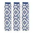 "16"" White & Blue Decorative Ceramic Vase 3 Lot Brand New"