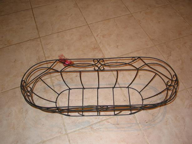 Metal Window Balcony Deck Plant Box Basket