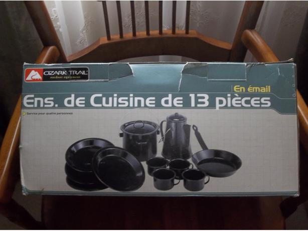 OZARK TRAIL 13 PIECES Enamel-Cookware-Camp-Cook-Set-