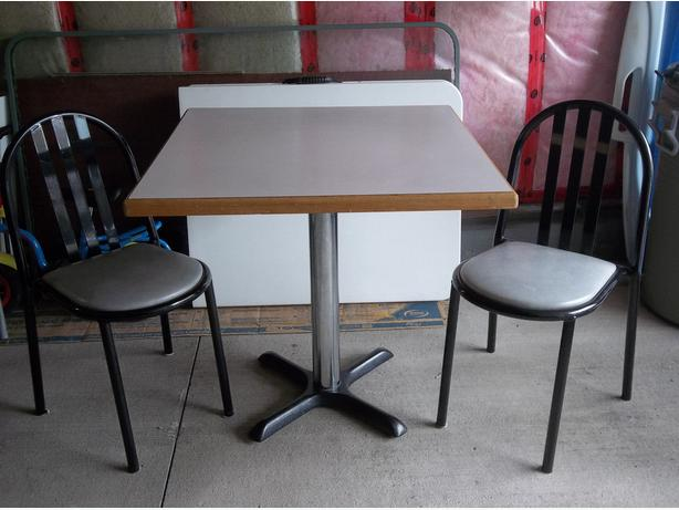 1 bistro table and 2 chairs
