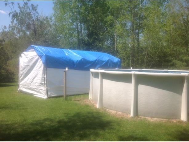 dismantling-installation Shelterlogic Round Car Shelter 10-ft x 20-ft