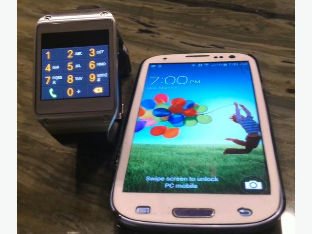 Samsung Galaxy phone paired with Samsung Gear watch