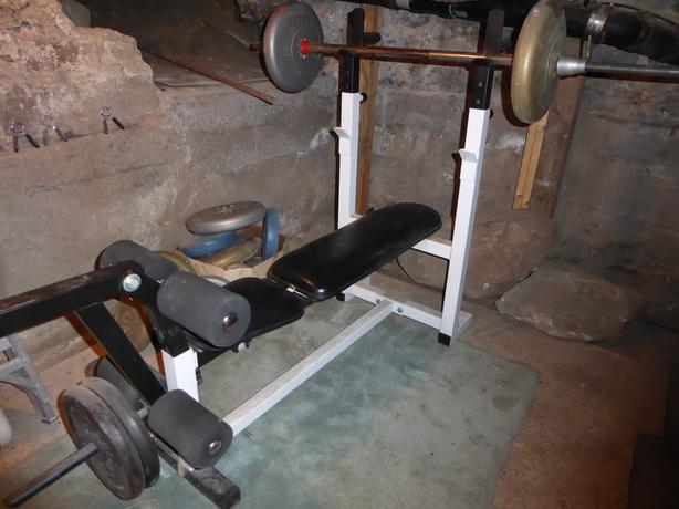 bench and variety of weights