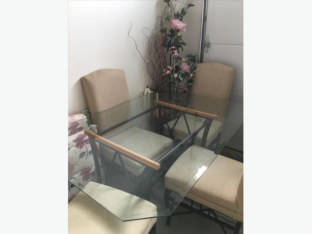 Glass Top Table & Chairs