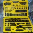 Stanley 183pc Professional Grade Black Chrome Mechanic Tool Set