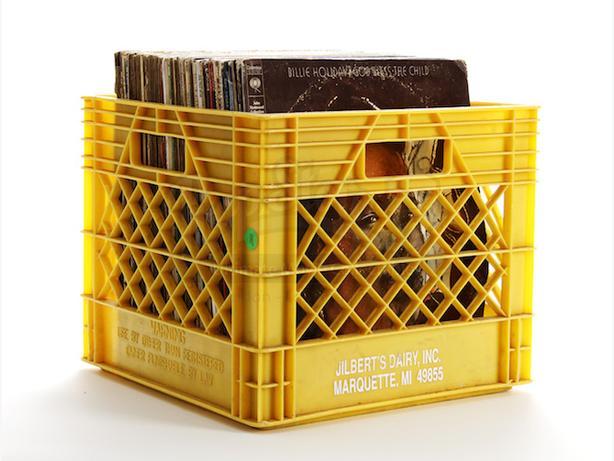 Milk Crates - Storage - DISQUES VINYL ALBUMS 33 TOURS RECORDS