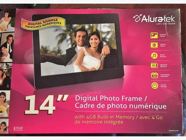 New Aluratek Admpf114f 1434 Digital Photo Frame With 4gb Sooke
