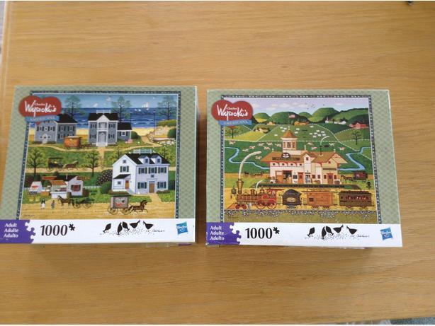2 jigsaw puzzles by Charles Wysocki