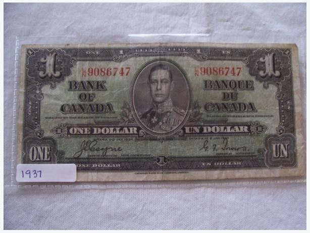 1937 ONE DOLLAR BILL