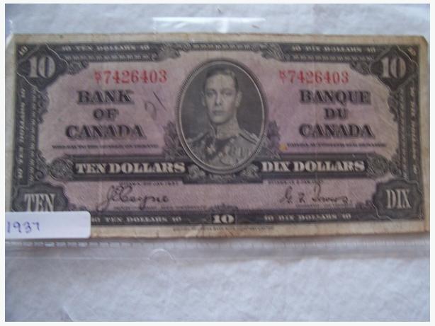 1937 TEN DOLLAR BILL
