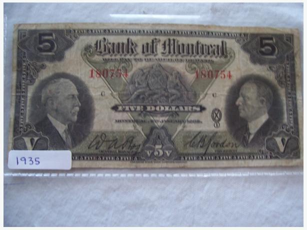 1935 FIVE DOLLAR BILL