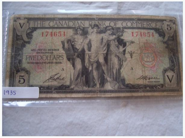1935 FIVE DOLLAR BILL
