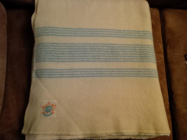 Vintage Ayers 100% Wool Blanket