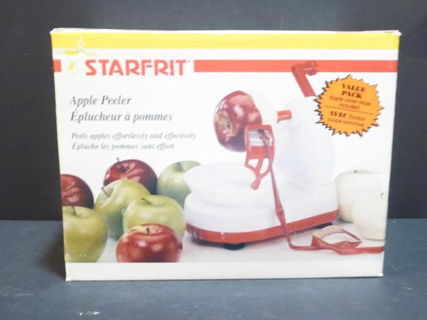 STAR FRIT APPLE PEELER -- MINT -- IN BOX -- NEVER USED
