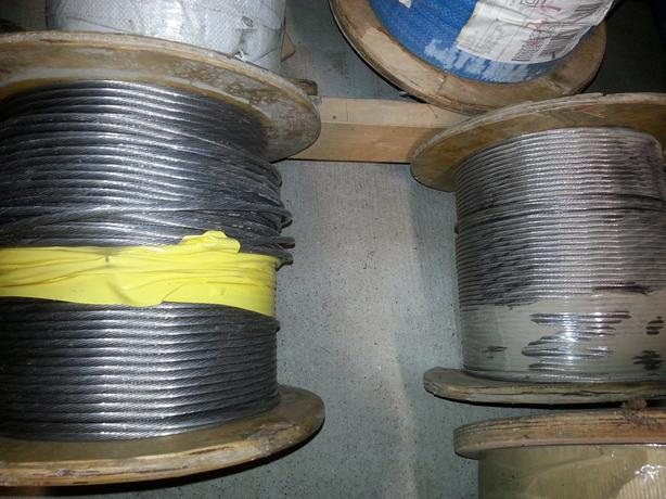 New prices..Stainless Steel rigging cable wire rope various sizes 500ft rolls
