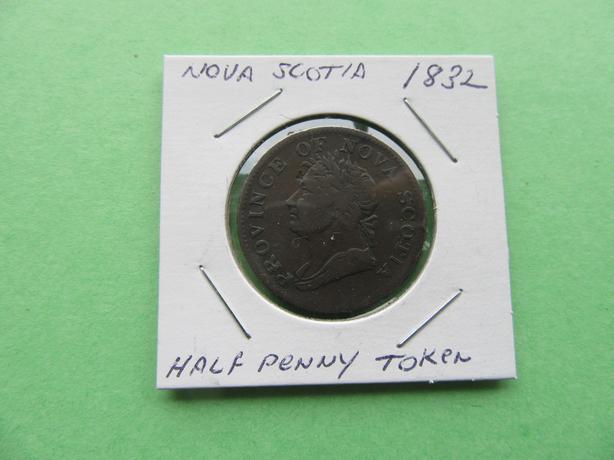 NOVA SCOTIA 1832 HALF - PENNY TOKEN