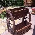 2-Tier Country Western Wagon Wheel Versatile Wood Planter Flower Box Versatile