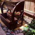 2-Tier Country Western Wagon Wheel Versatile Wood Planter Flower Box Versatile
