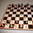 Chess Game / Set Wooden pieces with bi-fold board