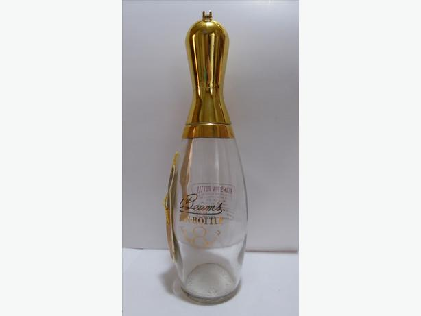 "VINTAGE ""BEAMS PIN"" DECANTER IN THE SHAPE OF A BOWLING PIN (EMPTY)"