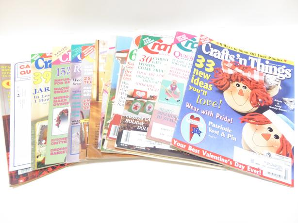 14 VINTAGE CRAFT MAGAZINES FOR YOUR ARTS & CRAFTS PROJECT
